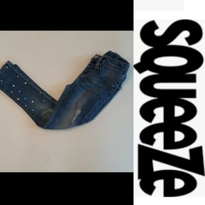 4/$15 Size 4 little girl distressed jean